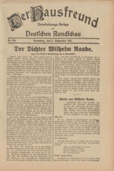 Der Hausfreund : Unterhaltungs-Beilage zur Deutschen Rundschau. 1931, Nr. 205 (8 September)