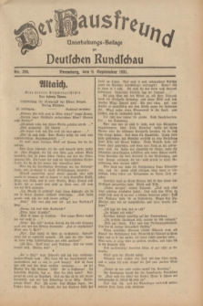 Der Hausfreund : Unterhaltungs-Beilage zur Deutschen Rundschau. 1931, Nr. 206 (9 September)