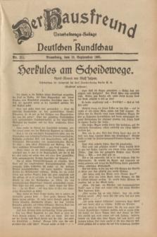 Der Hausfreund : Unterhaltungs-Beilage zur Deutschen Rundschau. 1931, Nr. 211 (15 September)
