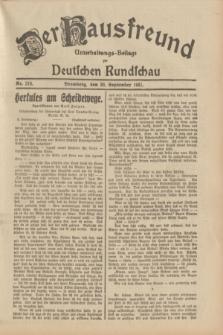 Der Hausfreund : Unterhaltungs-Beilage zur Deutschen Rundschau. 1931, Nr. 216 (20 September)