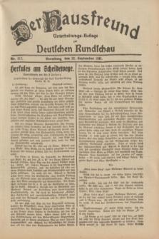 Der Hausfreund : Unterhaltungs-Beilage zur Deutschen Rundschau. 1931, Nr. 217 (22 September)