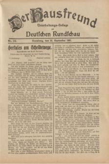 Der Hausfreund : Unterhaltungs-Beilage zur Deutschen Rundschau. 1931, Nr. 218 (23 September)