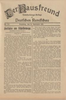 Der Hausfreund : Unterhaltungs-Beilage zur Deutschen Rundschau. 1931, Nr. 219 (24 September)