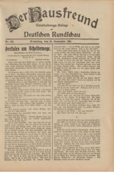 Der Hausfreund : Unterhaltungs-Beilage zur Deutschen Rundschau. 1931, Nr. 220 (25 September)