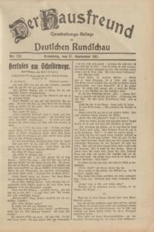 Der Hausfreund : Unterhaltungs-Beilage zur Deutschen Rundschau. 1931, Nr. 222 (27 September)