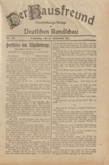 Der Hausfreund : Unterhaltungs-Beilage zur Deutschen Rundschau. 1931, Nr. 223 (29 September)