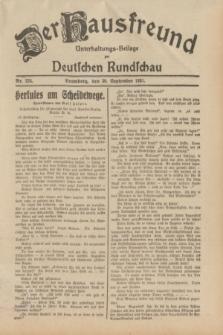 Der Hausfreund : Unterhaltungs-Beilage zur Deutschen Rundschau. 1931, Nr. 224 (30 September)