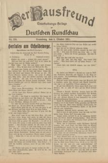 Der Hausfreund : Unterhaltungs-Beilage zur Deutschen Rundschau. 1931, Nr. 228 (4 Oktober)