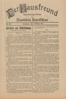 Der Hausfreund : Unterhaltungs-Beilage zur Deutschen Rundschau. 1931, Nr. 229 (6 Oktober)