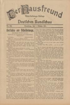 Der Hausfreund : Unterhaltungs-Beilage zur Deutschen Rundschau. 1931, Nr. 230 (7 Oktober)