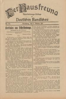 Der Hausfreund : Unterhaltungs-Beilage zur Deutschen Rundschau. 1931, Nr. 231 (8 Oktober)