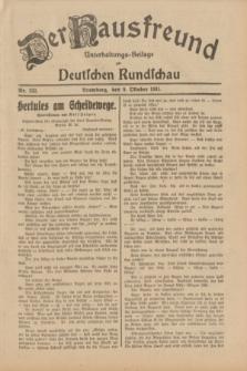 Der Hausfreund : Unterhaltungs-Beilage zur Deutschen Rundschau. 1931, Nr. 232 (9 Oktober)
