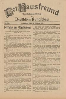 Der Hausfreund : Unterhaltungs-Beilage zur Deutschen Rundschau. 1931, Nr. 233 (10 Oktober)