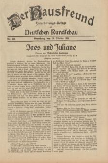 Der Hausfreund : Unterhaltungs-Beilage zur Deutschen Rundschau. 1931, Nr. 235 (13 Oktober)