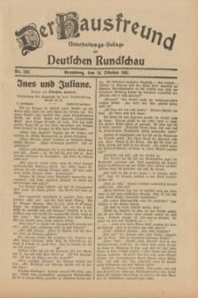 Der Hausfreund : Unterhaltungs-Beilage zur Deutschen Rundschau. 1931, Nr. 236 (14 Oktober)