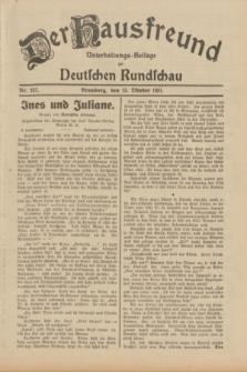 Der Hausfreund : Unterhaltungs-Beilage zur Deutschen Rundschau. 1931, Nr. 237 (15 Oktober)