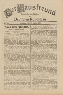 Der Hausfreund : Unterhaltungs-Beilage zur Deutschen Rundschau. 1931, Nr. 239 (17 Oktober)