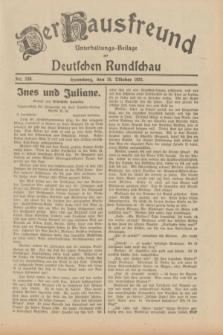 Der Hausfreund : Unterhaltungs-Beilage zur Deutschen Rundschau. 1931, Nr. 240 (18 Oktober)