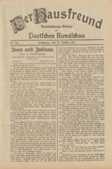 Der Hausfreund : Unterhaltungs-Beilage zur Deutschen Rundschau. 1931, Nr. 241 (20 Oktober)