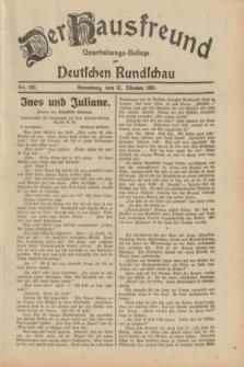 Der Hausfreund : Unterhaltungs-Beilage zur Deutschen Rundschau. 1931, Nr. 242 (21 Oktober)