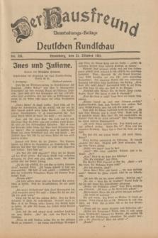 Der Hausfreund : Unterhaltungs-Beilage zur Deutschen Rundschau. 1931, Nr. 244 (23 Oktober)