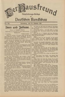 Der Hausfreund : Unterhaltungs-Beilage zur Deutschen Rundschau. 1931, Nr. 245 (24 Oktober)