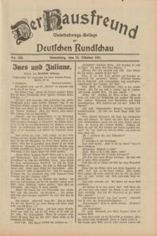 Der Hausfreund : Unterhaltungs-Beilage zur Deutschen Rundschau. 1931, Nr. 246 (25 Oktober)