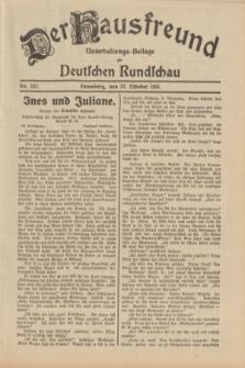 Der Hausfreund : Unterhaltungs-Beilage zur Deutschen Rundschau. 1931, Nr. 247 (27 Oktober)