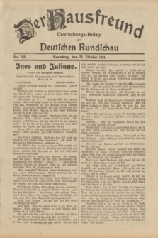 Der Hausfreund : Unterhaltungs-Beilage zur Deutschen Rundschau. 1931, Nr. 248 (28 Oktober)