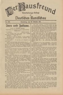 Der Hausfreund : Unterhaltungs-Beilage zur Deutschen Rundschau. 1931, Nr. 250 (30 Oktober)