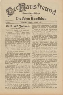Der Hausfreund : Unterhaltungs-Beilage zur Deutschen Rundschau. 1931, Nr. 251 (31 Oktober)