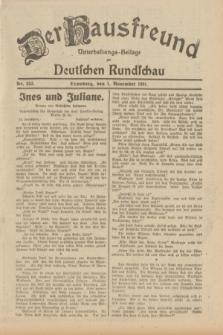Der Hausfreund : Unterhaltungs-Beilage zur Deutschen Rundschau. 1931, Nr. 252 (1 November)
