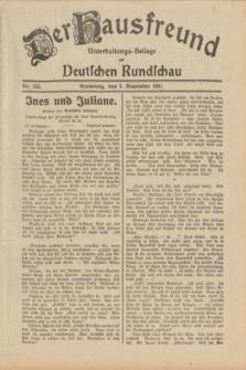 Der Hausfreund : Unterhaltungs-Beilage zur Deutschen Rundschau. 1931, Nr. 253 (3 November)