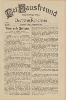 Der Hausfreund : Unterhaltungs-Beilage zur Deutschen Rundschau. 1931, Nr. 254 (4 November)