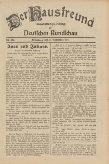 Der Hausfreund : Unterhaltungs-Beilage zur Deutschen Rundschau. 1931, Nr. 255 (5 November)