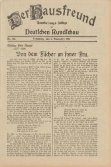 Der Hausfreund : Unterhaltungs-Beilage zur Deutschen Rundschau. 1931, Nr. 256 (6 November)