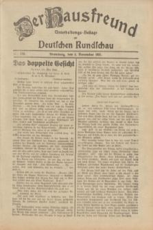 Der Hausfreund : Unterhaltungs-Beilage zur Deutschen Rundschau. 1931, Nr. 258 (8 November)