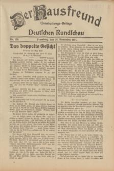 Der Hausfreund : Unterhaltungs-Beilage zur Deutschen Rundschau. 1931, Nr. 259 (10 November)