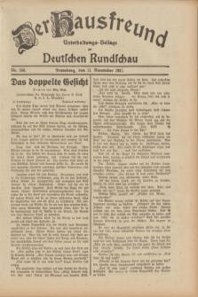 Der Hausfreund : Unterhaltungs-Beilage zur Deutschen Rundschau. 1931, Nr. 260 (11 November)