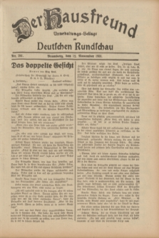 Der Hausfreund : Unterhaltungs-Beilage zur Deutschen Rundschau. 1931, Nr. 261 (12 November)
