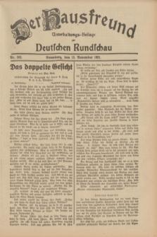 Der Hausfreund : Unterhaltungs-Beilage zur Deutschen Rundschau. 1931, Nr. 262 (13 November)