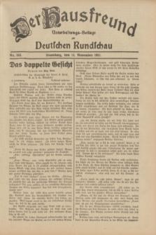 Der Hausfreund : Unterhaltungs-Beilage zur Deutschen Rundschau. 1931, Nr. 263 (14 November)