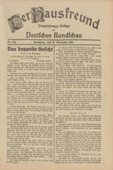 Der Hausfreund : Unterhaltungs-Beilage zur Deutschen Rundschau. 1931, Nr. 264 (15 November)