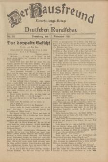 Der Hausfreund : Unterhaltungs-Beilage zur Deutschen Rundschau. 1931, Nr. 265 (17 November)