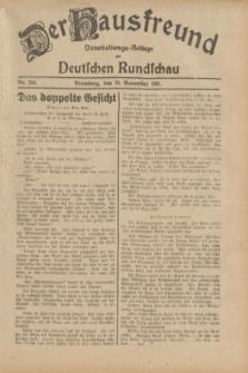 Der Hausfreund : Unterhaltungs-Beilage zur Deutschen Rundschau. 1931, Nr. 266 (18 November)