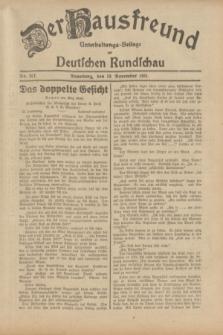 Der Hausfreund : Unterhaltungs-Beilage zur Deutschen Rundschau. 1931, Nr. 267 (19 November)