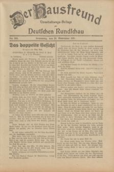 Der Hausfreund : Unterhaltungs-Beilage zur Deutschen Rundschau. 1931, Nr. 268 (20 November)