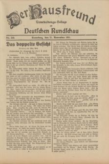 Der Hausfreund : Unterhaltungs-Beilage zur Deutschen Rundschau. 1931, Nr. 269 (21 November)