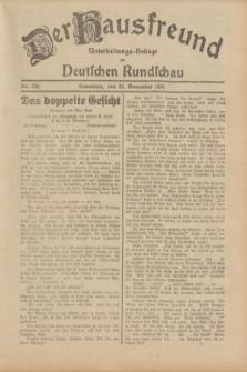 Der Hausfreund : Unterhaltungs-Beilage zur Deutschen Rundschau. 1931, Nr. 270 (22 November)