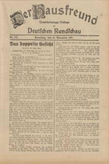 Der Hausfreund : Unterhaltungs-Beilage zur Deutschen Rundschau. 1931, Nr. 271 (24 November)